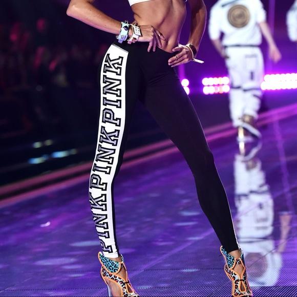 8941115ce68e9 Victoria Secret Pink Fashion Show Leggings